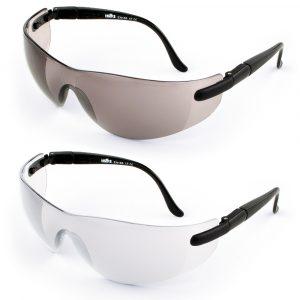 Profesjonalne okulary poliwęglanowe (000 czarny/przeźroczyste* (EN 166 1F)