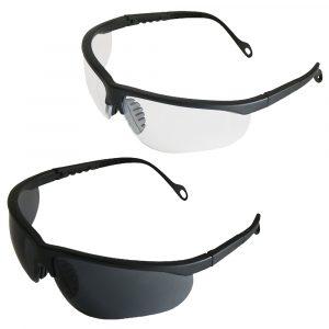 Okulary z regulowanymi zausznikami i odpornymi na zarysowania poliwęglanowymi szkłami i nowoczesnym wyglądzie